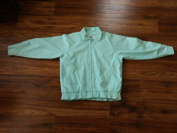 1980s Preppy Jacket Pastel Blue Green by Tabi Int… - image 5