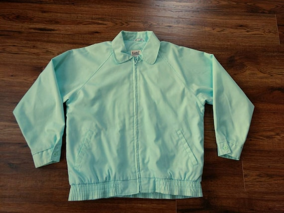 1980s Preppy Jacket Pastel Blue Green by Tabi Int… - image 2