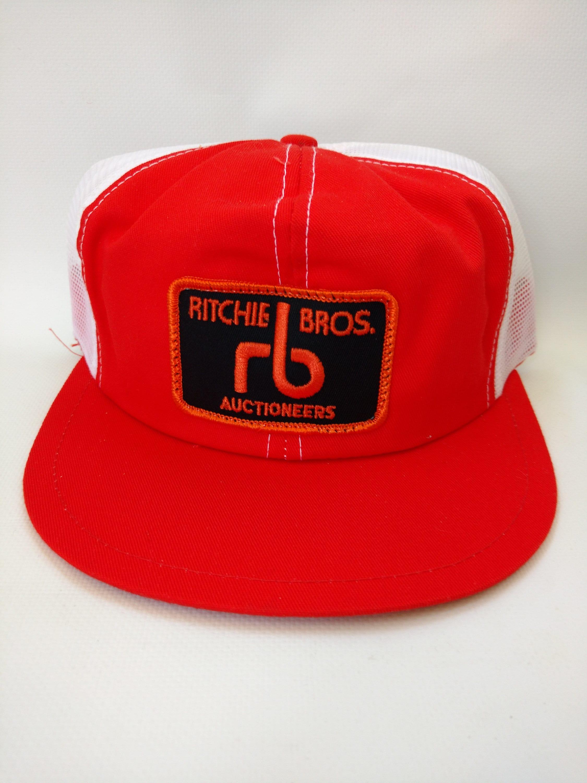 0439e88c46f vintage 1980s Trucker Hat Mesh Snapback Ritchie Bros.