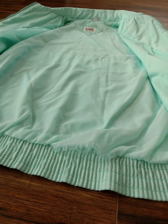 1980s Preppy Jacket Pastel Blue Green by Tabi Int… - image 7