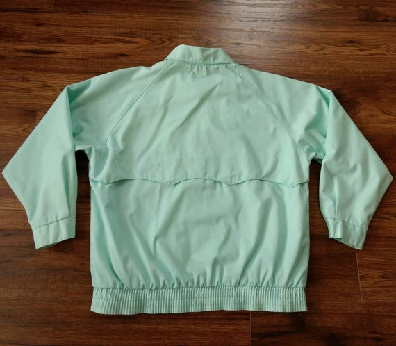 1980s Preppy Jacket Pastel Blue Green by Tabi Int… - image 3
