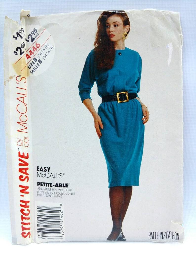 Sewing Pattern Retro Womens Plus Size Dress McCalls 4446   Etsy