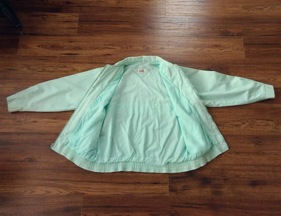 1980s Preppy Jacket Pastel Blue Green by Tabi Int… - image 6