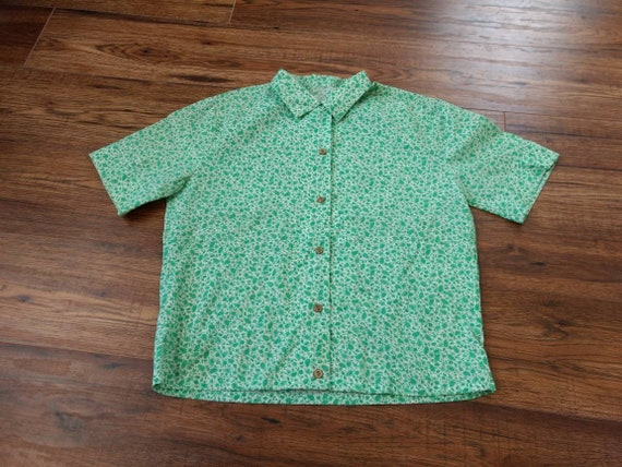 Vintage 50s 60s, Ditsy Floral, Paisley Shirt, Hand