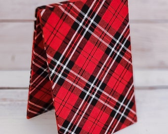 Fabric Easel, Premade Cross Stitch Finishing Piece, Flatfold, Cross Stitch Finishing, Finishing Service, Red and Black Plaid
