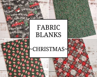 Fabric Blank, Premade Cross Stitch Finishing Piece, Cross Stitch Finishing, Mounted Flat, Pick Your Size and Fabric, Christmas Collection