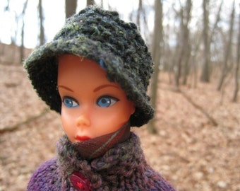 Barbie Knitting Pattern, Six Hats in Vintage Style, Pill Box, Bucket, Beret, Cable Knit Beret, Cossack and Cap