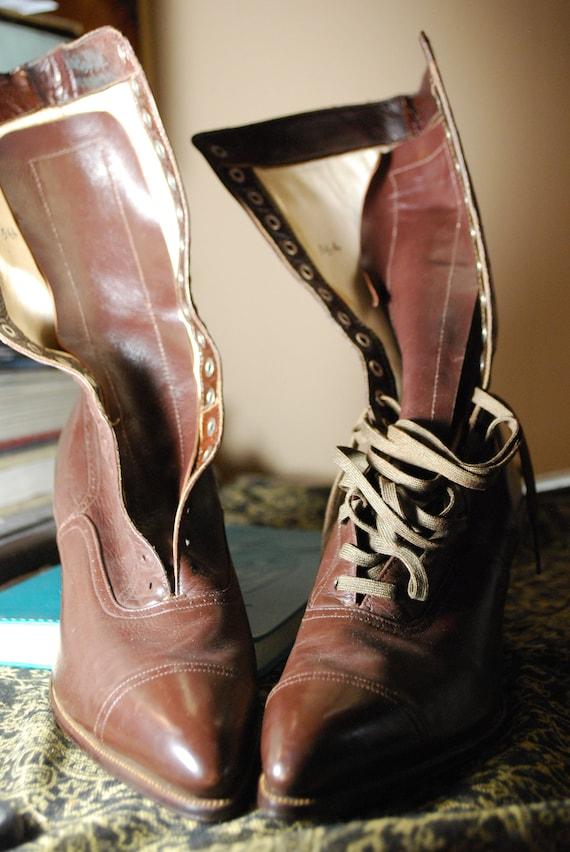 de 2 la 5 chaussures bottes 1 1919 cuir antique en chat vintage patte wExAq7