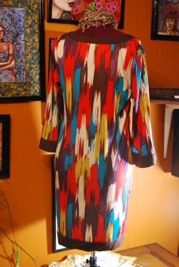 pattern mint x large 1990 vintage rare dress free shipping look vintage dress boho artsy colorful print abstract sale tunic