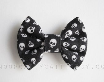 Cat Bow Tie and/or Collar Set - Skullduggery - Halloween Cat Accessory