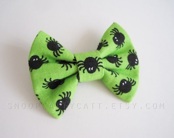 Cat Bow Tie and/or Collar Set - Spidey Sense - Halloween Cat Accessory
