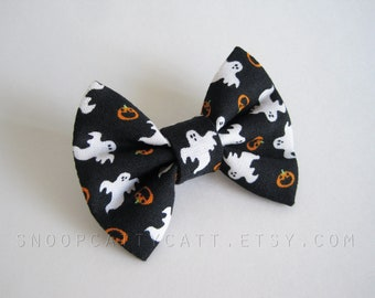 Cat Bow Tie and/or Collar Set - Fright Night - Halloween Cat Accessory