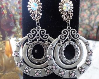 Sparkle Flowered Stud Earrings