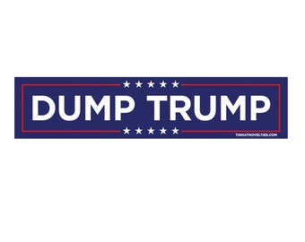 Dump Trump sticker.