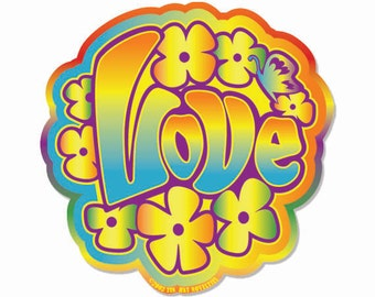 Retro Love Sticker
