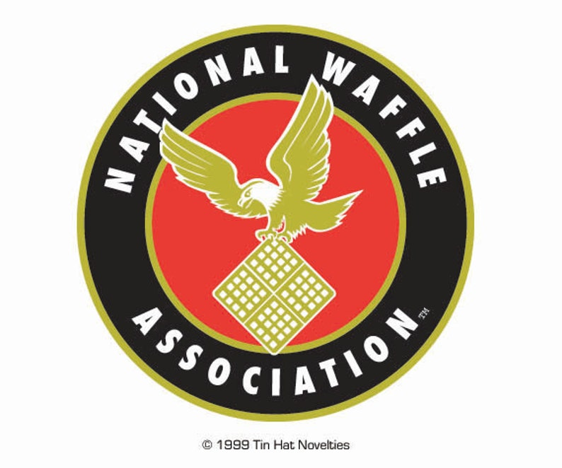 Dazzling full-color National Waffle Sticker. image 0