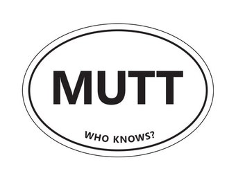 MUTT sticker