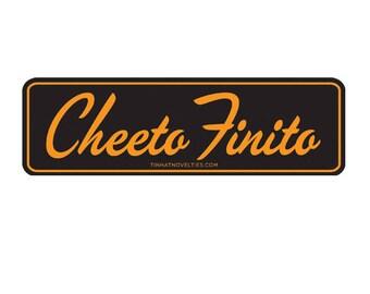 Cheeto Finito Sticker