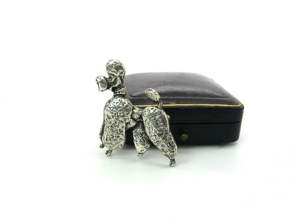 Vintage Cini French Poodle Dog Brooch c.  1950s Figural