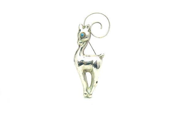 Large Gazelle Brooch Vintage Jewelry