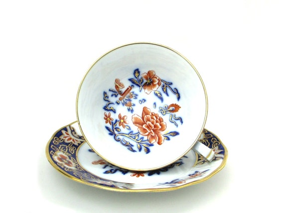 Vintage French Limoges L. Bernardaud B & Co 'Canton' Tea Cup Saucer