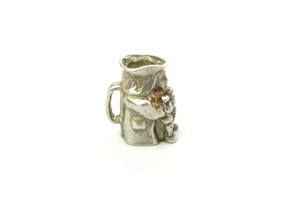 Vintage Colonial Sterling Silver Toby Jug Charm