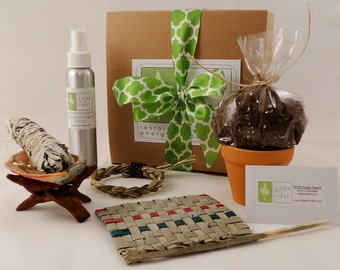 SageMyNest Housewarming Gift Kit - A Sage Cleansing, Sage Smudge Kit For A New Home Owner Or New Apartment! Unique Housewarming Gift Idea!