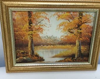 Landscape oil Painting Fall colors