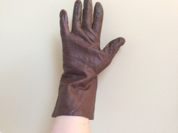 Vintage Brown Soft Leather Gloves size 8/Driving G