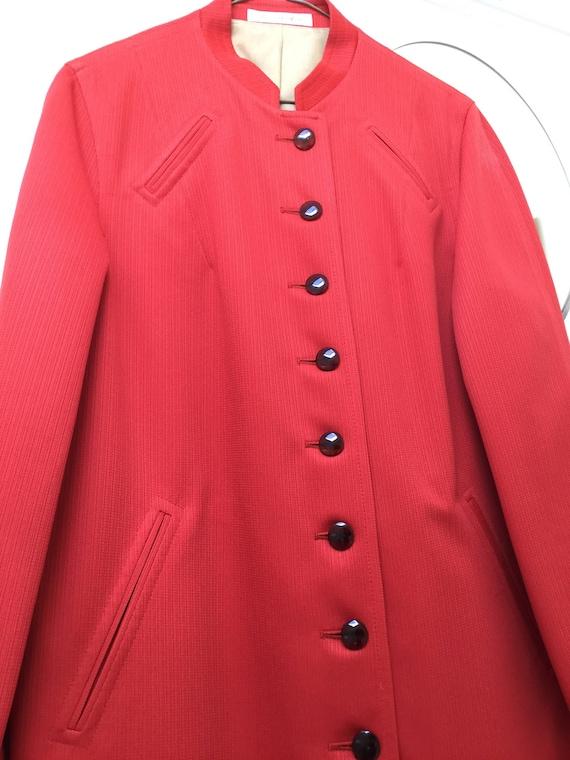 Misty Harbor Poppy Red Ladies Coat 1970s New Old S