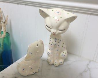 McNee pottery Mama and Baby Cat