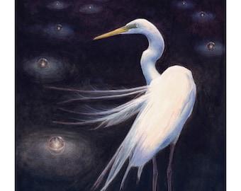 Egret high quality print