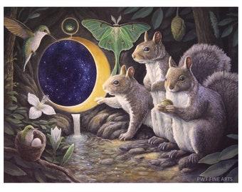 Transformative Step squirrel print