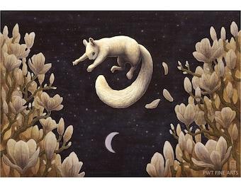 Magnolian Leap squirrel print