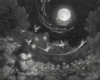 Singing Gibbon print