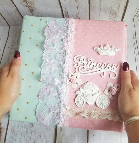 Princess Photo Album Custom Made Fabric Album Handmade Baby Etsy