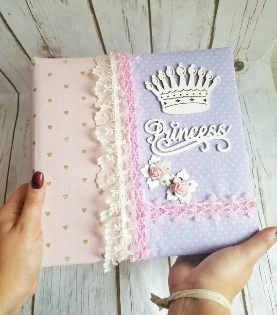 Princess Photo Album Baby Fabric Album Handmade Baby Photo Etsy