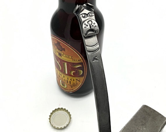 Bulldog Bottle Opener - Personalization Available - Hand Forged by Naz - Custom Craft Beer Gear - Gifts for Dog Lovers and Beer Drinkers