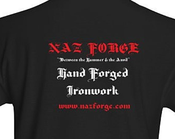 NAZ FORGE T-Shirt (Large or X-Large) - Black -Signature Soft men's t-shirt  superior print quality : 155 grams, 100% ringspun cotton.