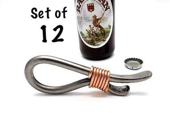 SET OF 12 Groomsmen Gifts, Openers, Bridal Party Gifts, Can be Personalized, Groomsman Gift Sets, Bottle Opener Wedding Favors by Naz Forge
