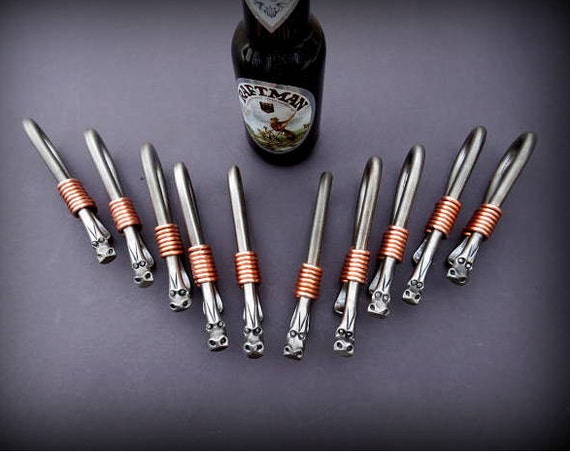 10 DRAGON GROOMSMEN GIFTS - Bottle Openers - Personalization Option available Signed by Blacksmith Naz  Gifts for Groomsmen Ushers Gift