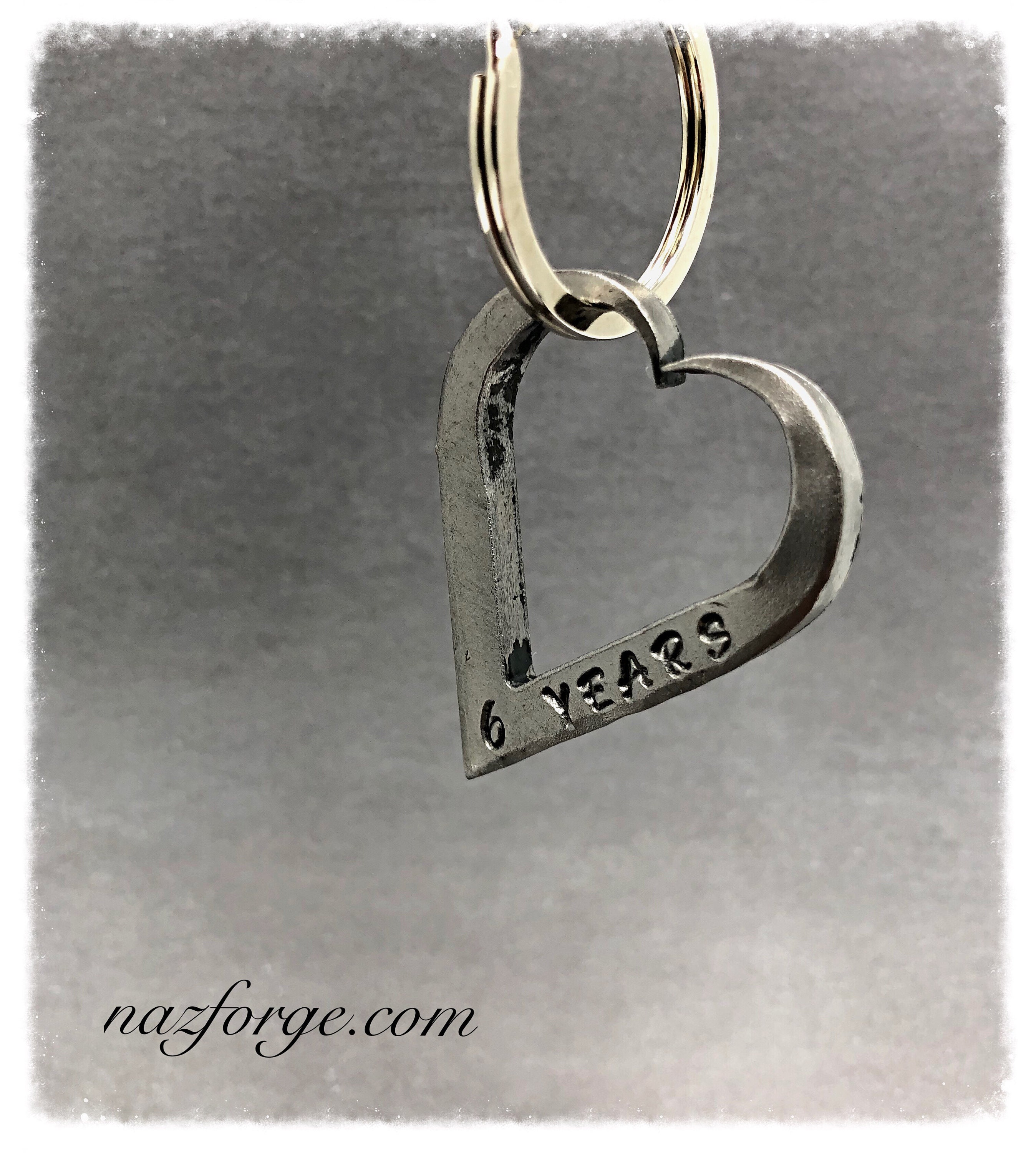 Sixth Wedding Anniversary Gift Ideas For Him: 6th Wedding Anniversary Iron Keychain Gift Idea For Wife