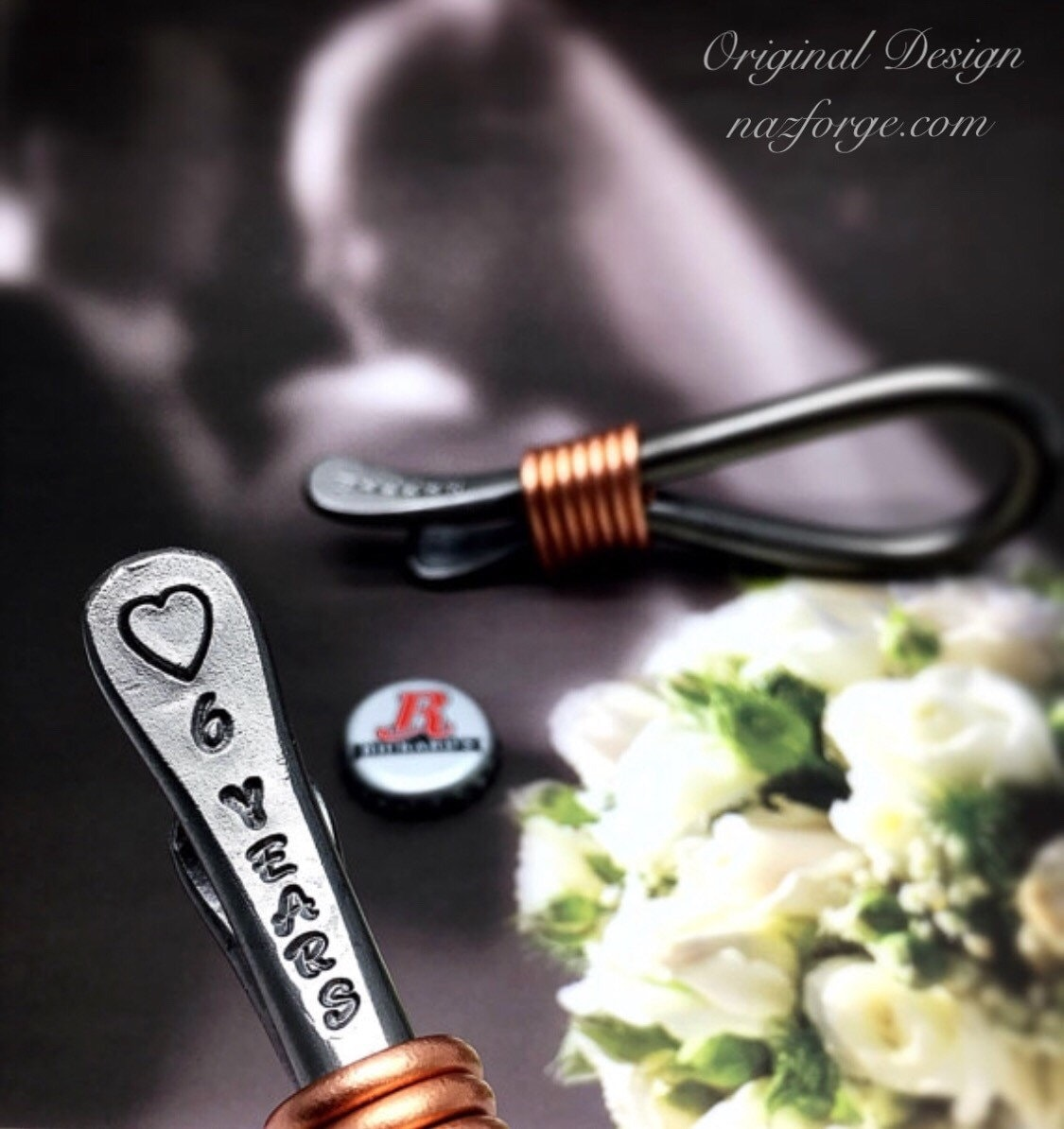 6th Year Iron Wedding Anniversary Gift Bottle Opener For Husband Or