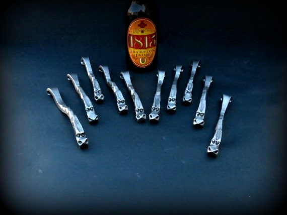 10 GROOMSMEN GIFTS DRAGON'S Claw  Bottle Openers - Personalization Option available Signed by Blacksmith Naz  Groomsman Ushers Gift  Men
