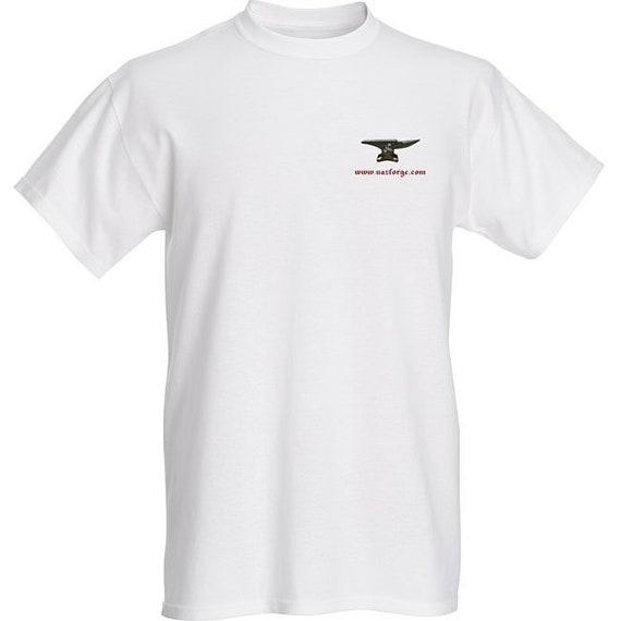 NAZ FORGE T-Shirt (Large or X-Large) - White -Signature Soft men's t-shirt  superior print quality : 155 grams, 100% ringspun cotton.