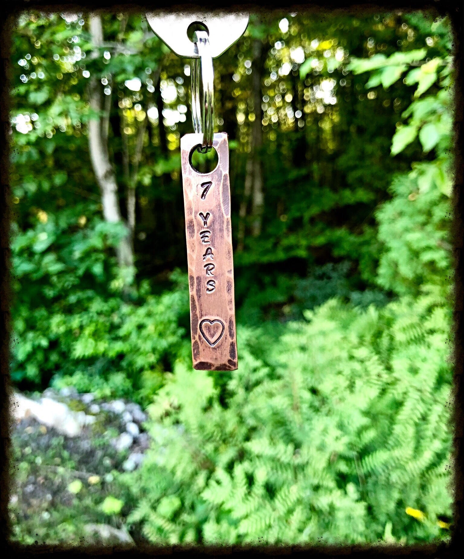 7th Wedding Anniversary Gift Ideas For Her: 7th Year Copper Wedding Anniversary Keychain Gift Idea For
