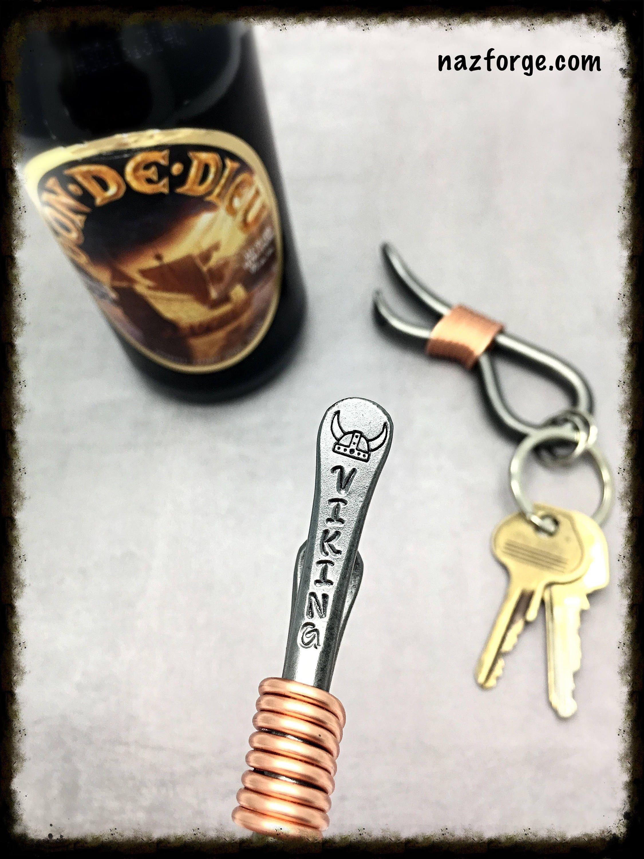 VIKING HAT Keychain Bottle Opener - Personalized Option