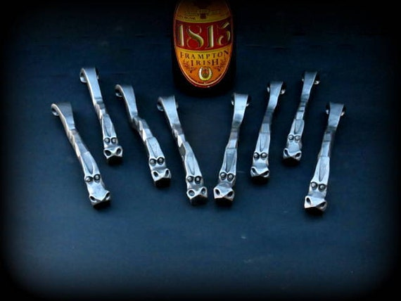 8 GROOMSMEN GIFTS DRAGON'S Claw  Bottle Openers - Personalization Option available Signed by Blacksmith Naz  Groomsman Ushers Gift  Men