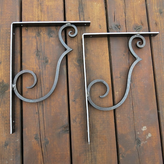 Shelf Brackets (Pair) Hand Forged by Blacksmith Naz