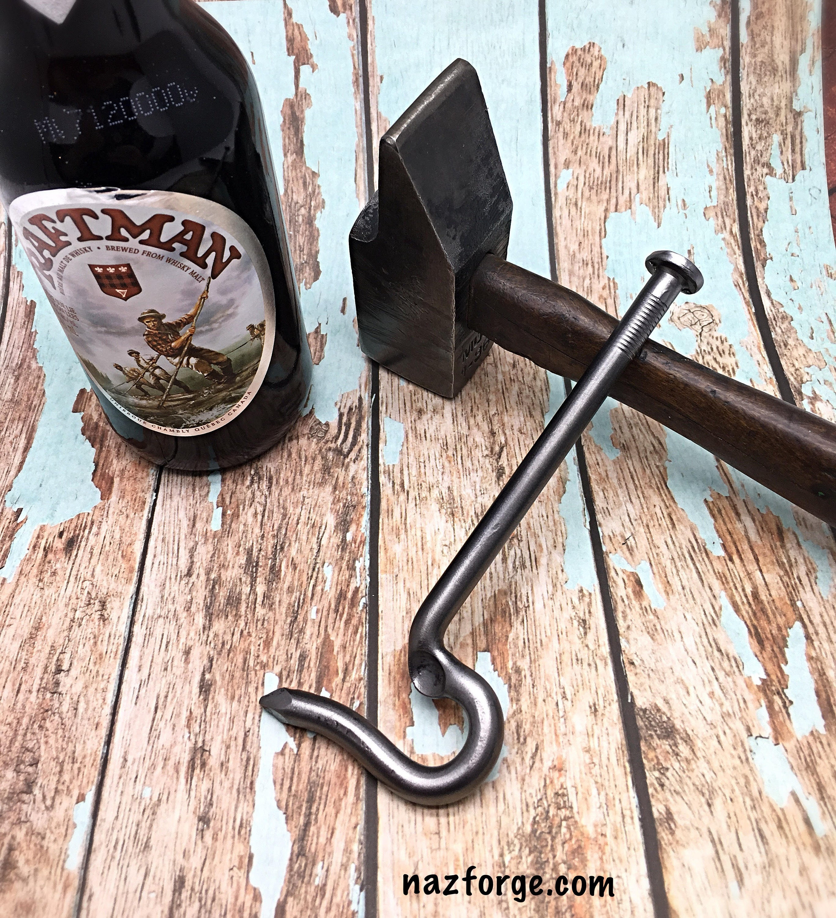 NAIL IT !!.. Hand Made from a Large Nail Gifts for Handy Man Men  Boyfriend Husband Personalized Groomsmen Gift Idea Bottle Opener